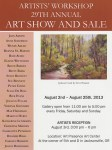 Artists Workshop 2013 annual show announcement