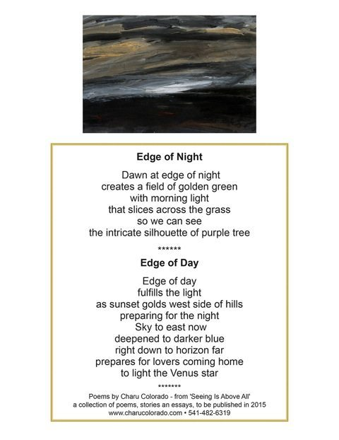 """Last Light"", acrylic painting by Charu Colorado"