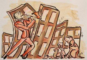 Sax and Dogs, by Jeannie Azzopardi
