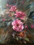 Luscious Pink Roses, oil painting by Stefan Baumann