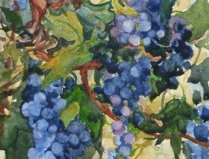 The Vines, watercolor by Sue_Bennett