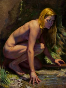James McComas, Superior, CO: Diana, Oil on Linen, 24x18