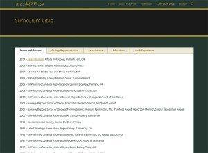 Curriculum Vitae page. www.michaelcarpenterart.com