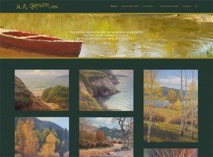 Screenshot of www.michaelcarpenterart.com homepage, created by Hannah West Design in April 2015