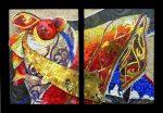Embroidery, mosaic by Carole Choucair Queijan