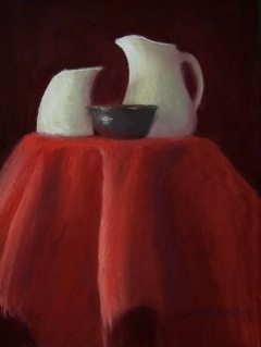 """White Elegance"" Pastel painting by Judy Richardson"