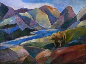 Contemplation, original oil painting by Eva Thiemann