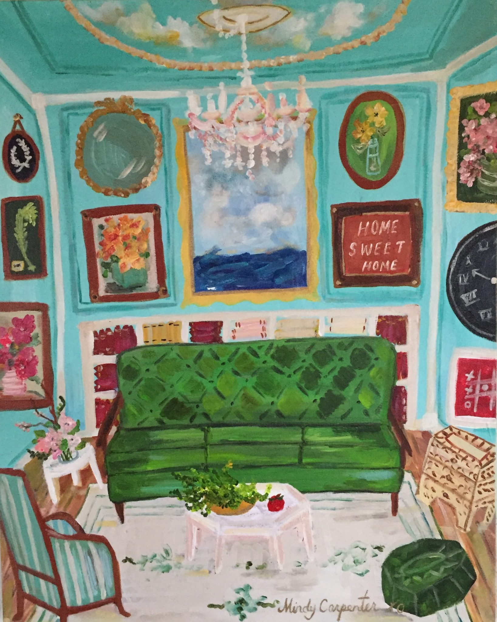 Home sweet home painting - Soar Welcomes Artist Mindy Carpenter Home Sweet Home Original Acrylic Painting By Mindy