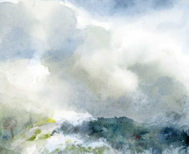 Joan Franklin to Show at Weisinger's in May : Cloudy Sky and Mountain, by Joan Franklin