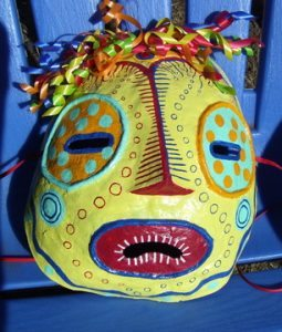 July First Friday Event: July Featured Studio Artists: Studio #6 - Zoe West's 'Let's Party'- Masks & Sculpture