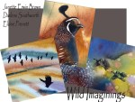 Wild Imaginings : Exhibit of Experimental Watercolor Paintings by Elaine Frenett, Darlene Southworth, and Janette Erwin Brown at Ashland Art Center, Ashland, Oregon during October 2016. Reception October 7 from 5–8pm in conjunction with the Ashland First Friday ArtWalk