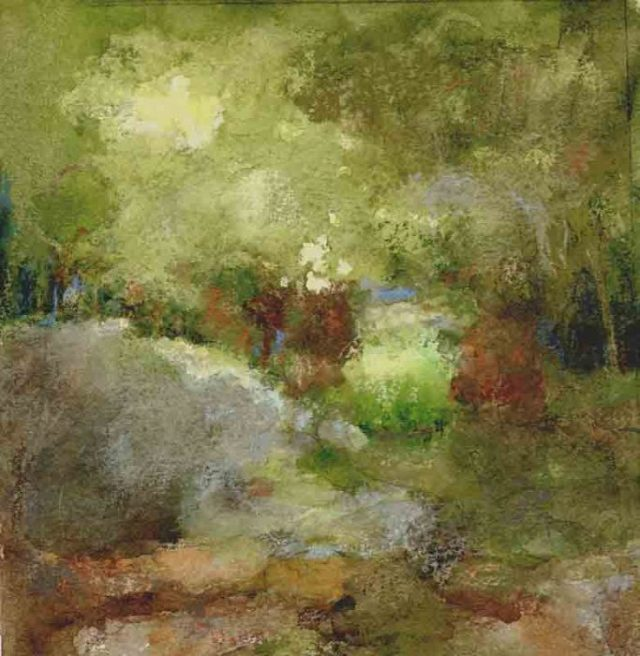 new painting by joan franklin lithia park 3