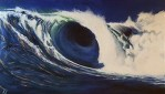 Revolution II, acrylic painting of a wave by Kj Cumberbatch