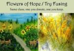 Light Garden Glass Art Flowers of Hope