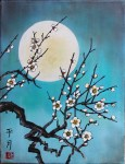 Cherry Blossom and Asian Moon workshops at Kindred Spirits, April 2017 in Talent Oregon