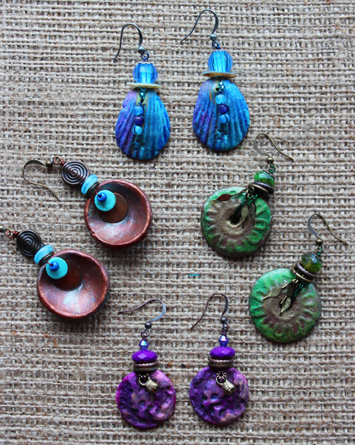 kindred spirits spring art workshops : Earring Workshop at Kindres Spirits in Talent Oregon April 2017