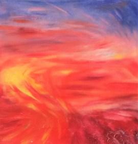 Amaranthine, acrylic on canvas by Alyssa Dunham