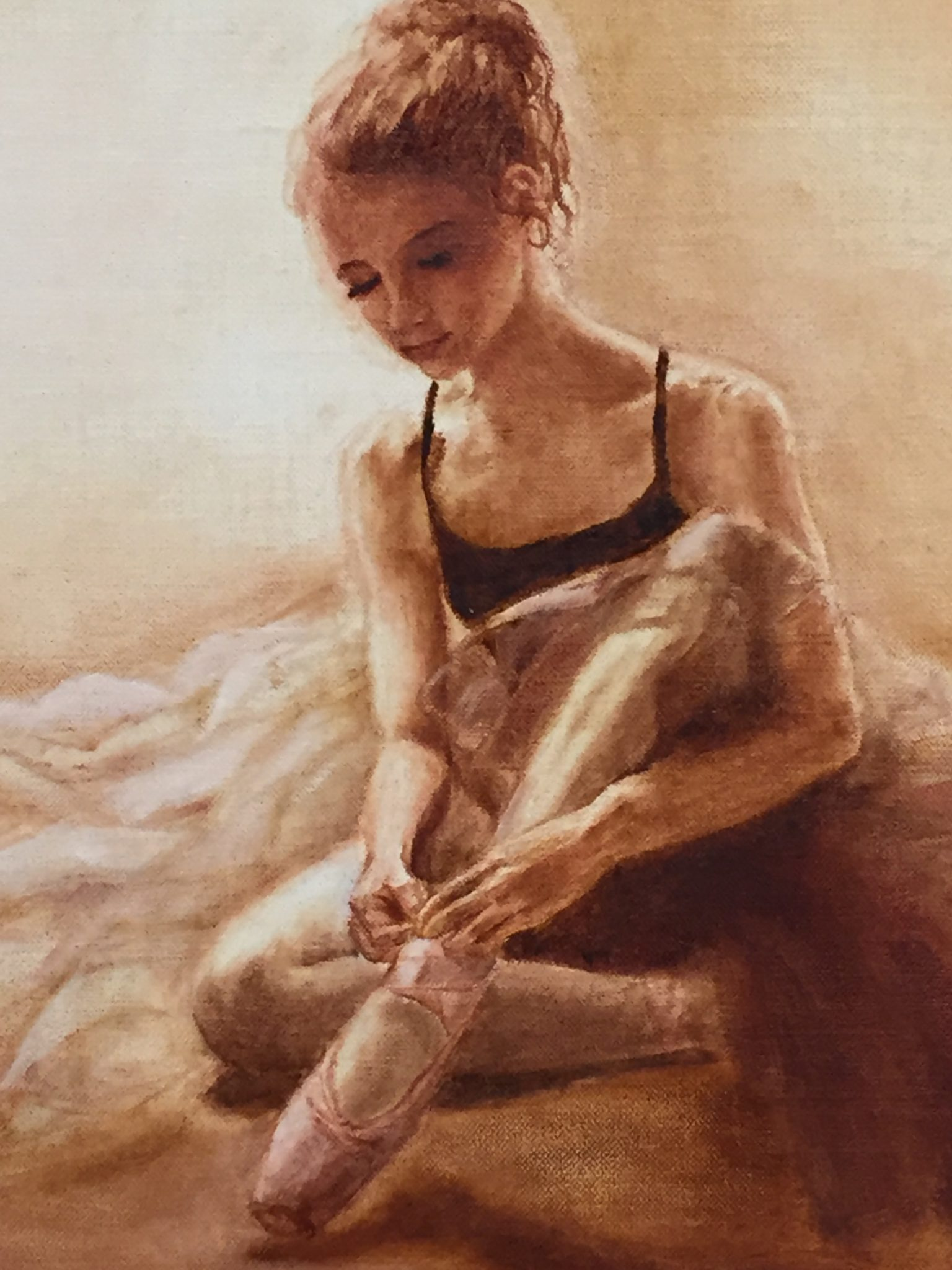 Point of Grace, Oil on linen by Christina Cannon (detail)