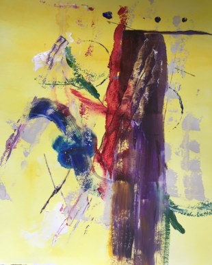 Abstract acrylic painting by Patrick Beste