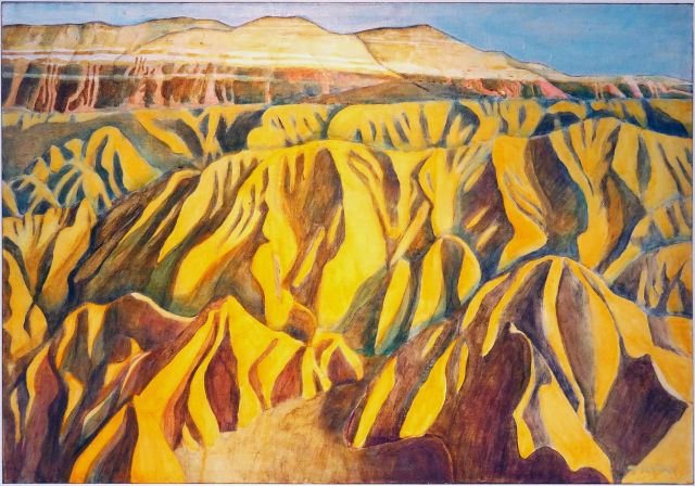 Leif Trygg, Zabriski Point Death Valley, June 2017 retrospective at Oak Leaf Studio, Ashland, OR