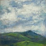 Oil painting of a landscape with clouds by Silvia trujillo, Ashland, Oregon