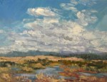 Painting Skies and Clouds workshop with Silvia Trujillo at Rogue Gallery and Art Center, Saturday June 3, 2017