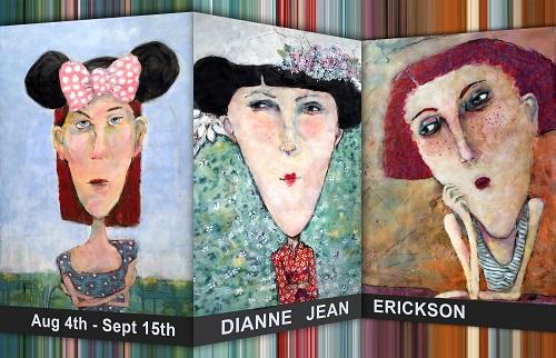 Hot Palette art exhibit of encausti cpaintings by Dianne Jean Erickson at GRants Pass Museum of Art, Grants Pass, Oregon