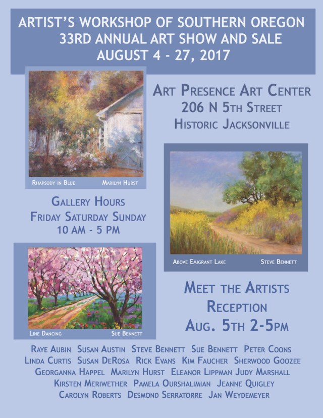 Artists Workshop of Southern Oregon 2017 Annual Show & Sale Announcement