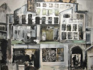 New Exhibit at the Rogue Gallery - image of painting Grandfather's House, by Susan Lehman