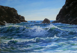 Linda dixon seascape in oil