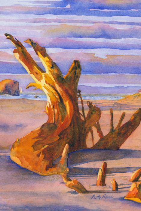 """Nature's Statue"" watercolor by Betty Barss"