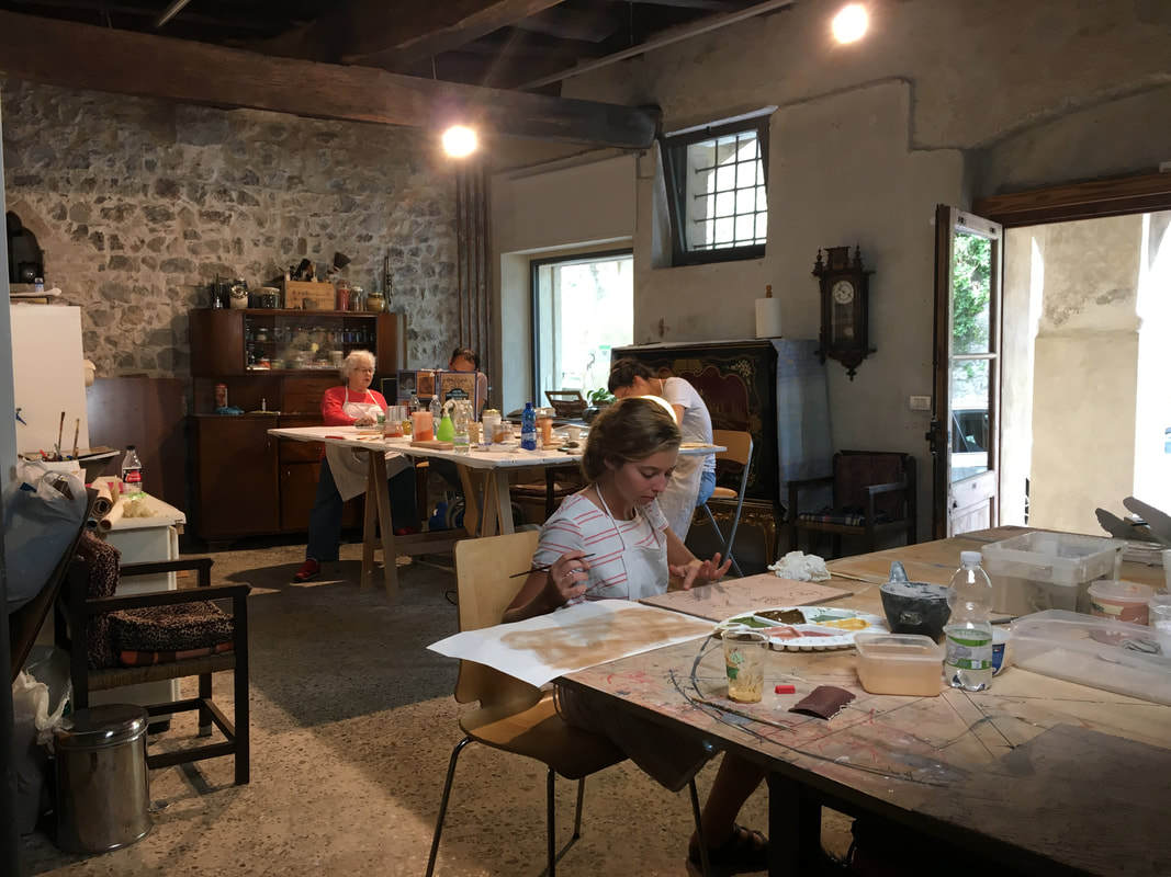 Natural Painting Workshop in Italy! Studio painting