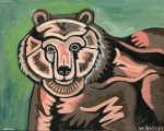 "Image caption:  Wendy Bloom, ""Mama Bear,"" Acrylic on Canvas"