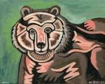 "Image caption: Wendy Bloom, ""Mama Bear,"" Acrylic on Canvas"