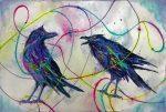 """Pam Haunschild, """"Quantum Entanglement,"""" watercolor"""