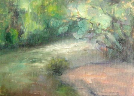 Silvia Trujillo Forest Path painting in oil