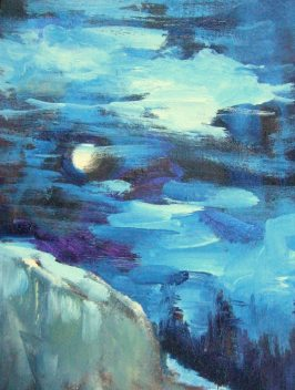 Silvia Trujillo oil painting of the moon