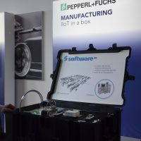 IIot in a box - Show-Case der Firma Pepperl + Fuchs GmbH in Kofferform.