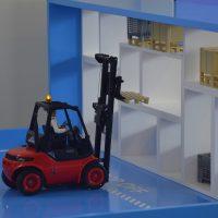 IoT-Logistik-Demo der Software AG am Beispiel eines Gabelstaplers.