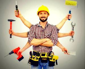 Handyman - a technician with multiple skills and a wide range of knowledge for repair and maintenance services