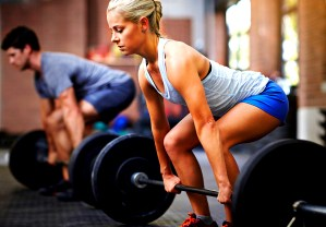 Strength training with low reps.