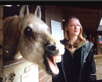 Amy Smith and one of her equine subjects