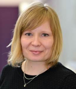 A photograph of Mari Martiskainen smiling