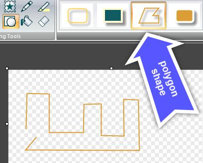 Snagit polygon shape tool