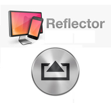 Reflector App and AirServer logos; TechSmith recommended apps for screen capture on tablets