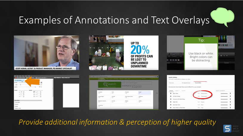 various annotation examples