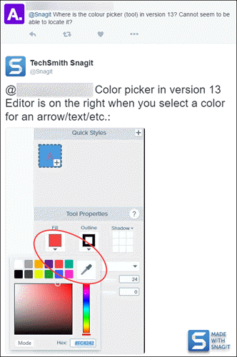 Snagit editor screenshot