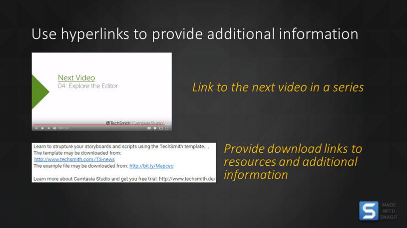 Examples of Video Hyperlinks