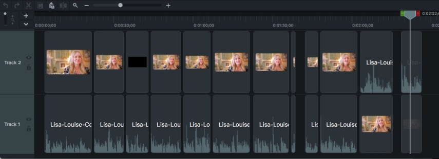 Trim and edit clips on the video timeline
