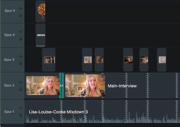 Video aiuf Timeline bearbeiten